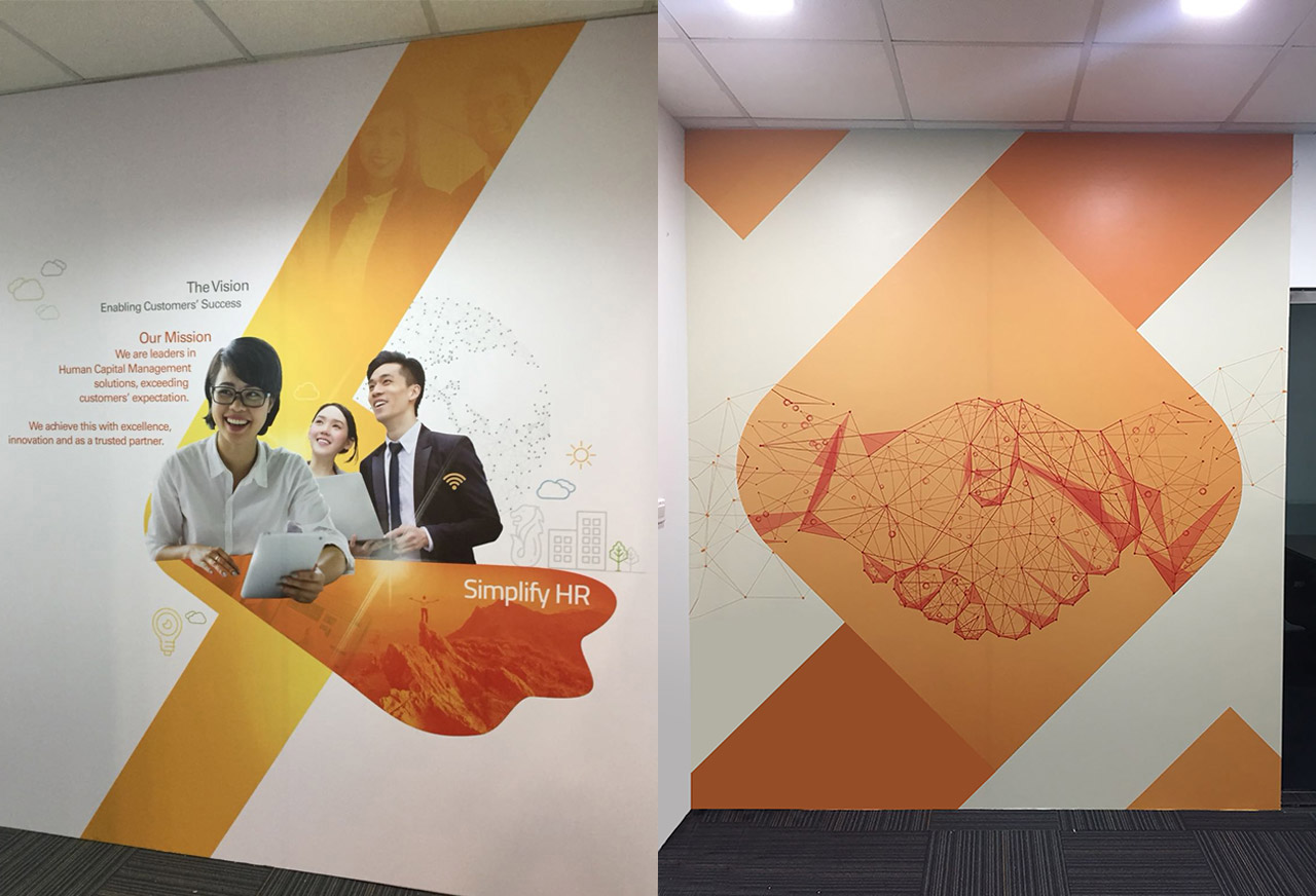 office wall designing